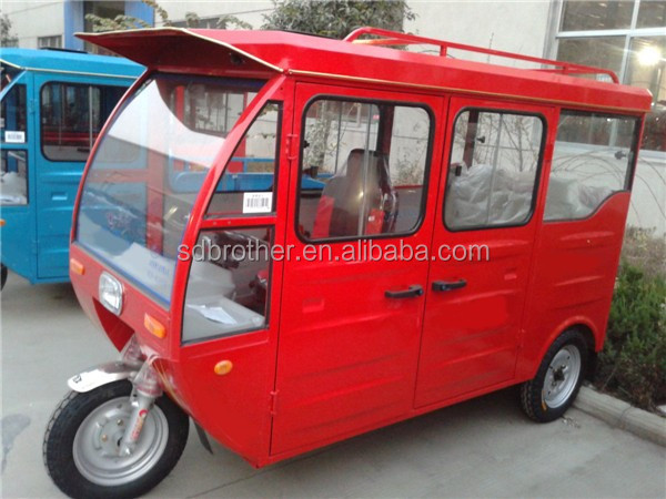 1000W cargo box closed cabin passenger electric tricycle