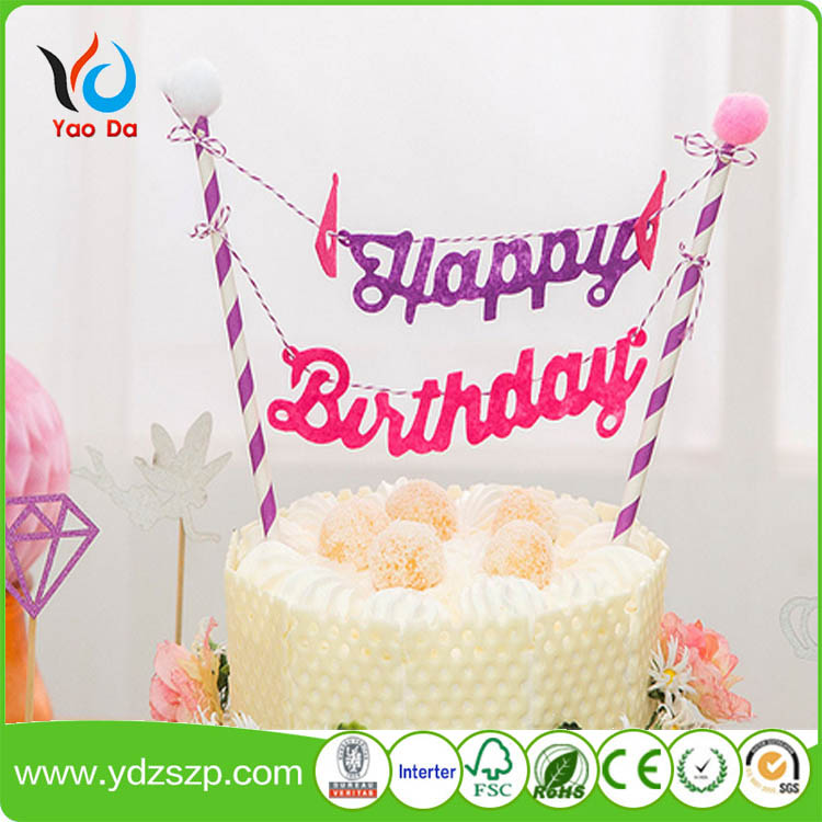 Paper Flag Cake Decoration,Birthday Cake Paper Tube Flag - Buy Happy  Birthday Cake Decoration,Decoration Cake Pick Flag,Paper Flag With Stick  Product ...
