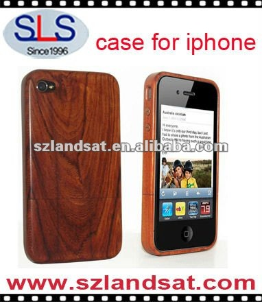 latest bamboo case for iphone, hot sale bamboo case for iphone 4, SLS-IPC303