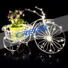 waterproof 8 functions mini led rattan string lights for bike decoration