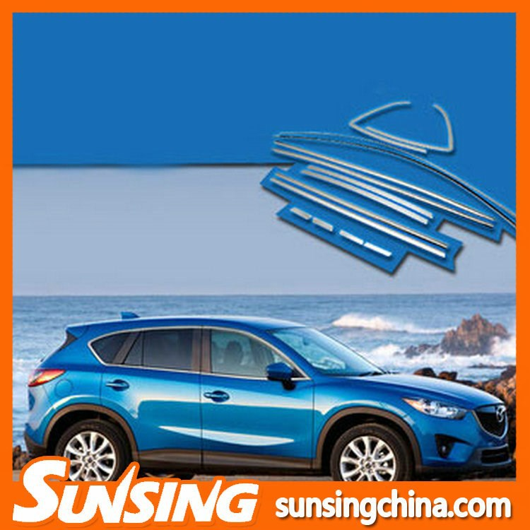 OEM Stainless Steel Car window decorative strips apply to mazda cx 5