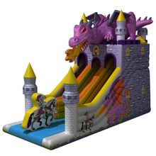 Latest design Guangzhou jumper bouncing castle inflatable dinosaur bounce house slide bouncer