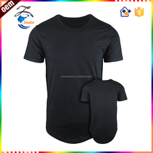 Factory Direct Wholesale 100% Cotton Short Sleeves men's Hipster Hip Hop Long Drop Tail t shirt