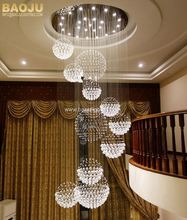 Cristal ball shaped chandeliers