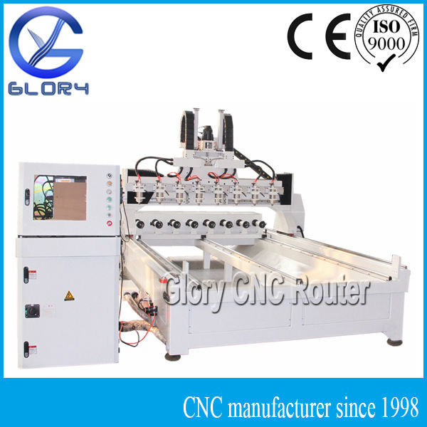 Multi Head NC Controlled PC Based 2D and 3D CNC Router