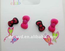 Beautiful and special soft PVC drop earrings