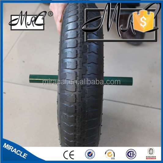 Solid rubber wheel 3.50-8 with metal spoke
