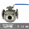 API 6D Cf8m Stainless Steel thread handwheel operated 1 inch float ball valve, 3-piece ball valve