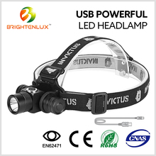 Hot Sale Long Distance 10watt Cree led USB Rechargeable High Power led headlamp powerful