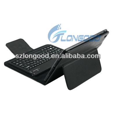 2014 hot selling cheaper Leather Case with Detachable Removable Bluetooth Keyboard for iPad mini for ipad mini retina