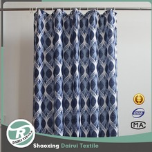 Shower curtains polyester fabric curtain for bathroom