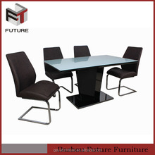 Modern 4 seater glass dining table sets for living room and house