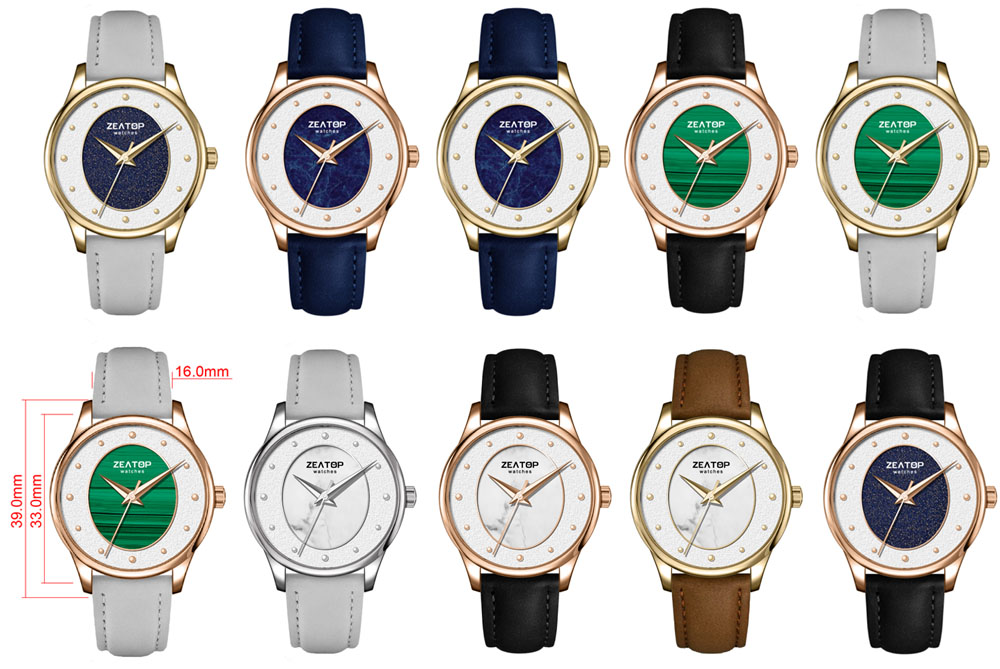Stylish Fashion Watch 3ATM Water Resistance Rose Gold Lady Watch With Leather Strap
