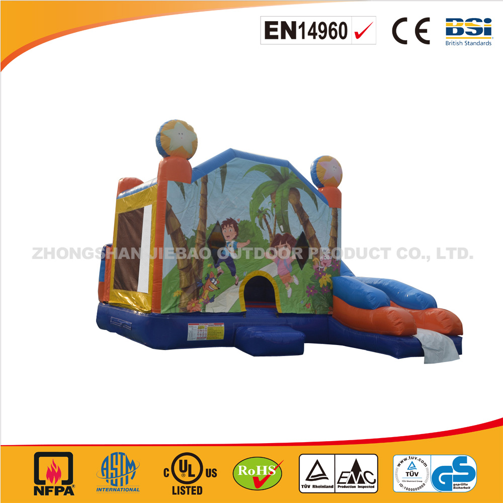 J002-Inflatable Bouncer With Slide/ Rental Inflatable Jumping Castle/inflatable bouncer castle
