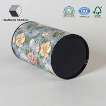 Tea boxes Round tube with tin plug