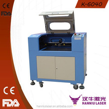 Guangzhou factory price Mini 40W/60W double color sheet laser engrave and cut machine K-6040