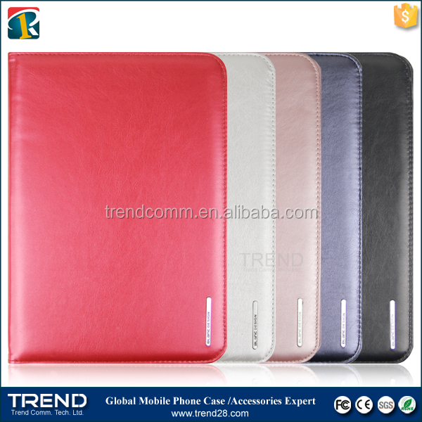 iron frame smart wallet leather case for ipad mini
