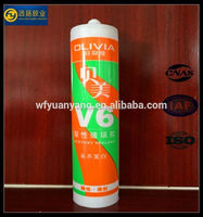 Nail-free rtv transparent silicone adhesive for glass curtain wall