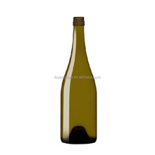 empty 750ml antique green burgundy wine glass bottle in China Hebei