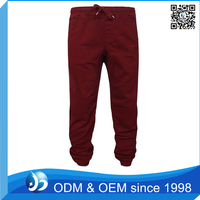 Customized Mens 100% Cotton Jogger Track Pants Tapered