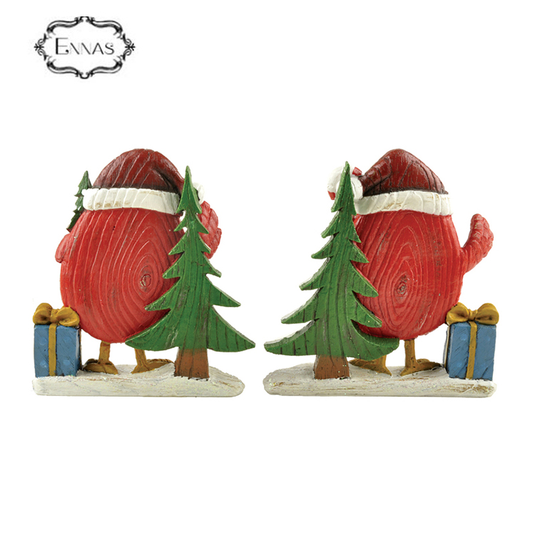 Resin decoration custom made souvenir snow birds cardinal