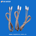 Wholesale Nylon Braided Data Line for iphone Micro Type C to Type C USB Charger and Sync Cable