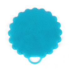 Multifunction flower shaped flexible heat resistant silicone Brush, Kitchen cleaning great helper