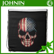 2015 China Hot Sell Fashion Custom Nylon Drawstring America Flag Bag