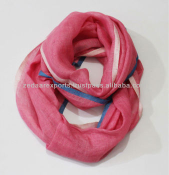 Linen infinity scarves loop scarves super soft circle scarf