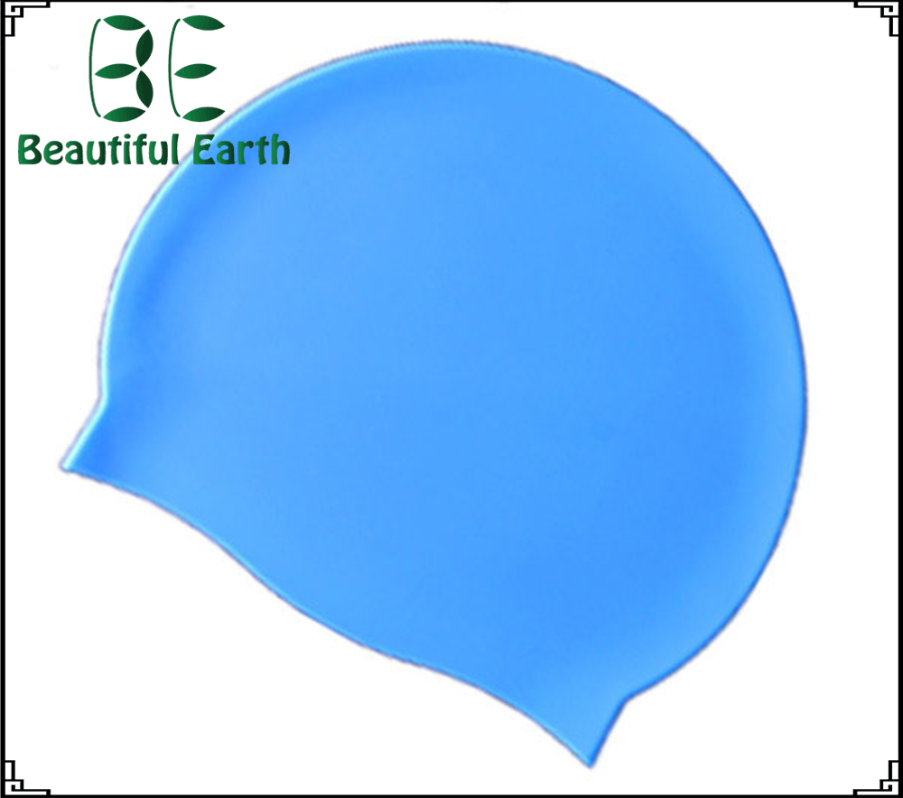 Funny adult customize logo swimming pool silicone latex swim cap