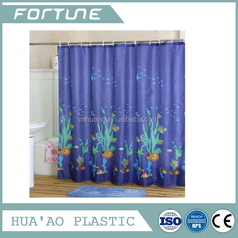water proof shower curtain with baby design pvc material printed colorful