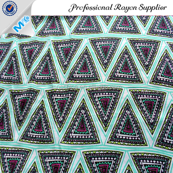 MR16005BP Best Selling 100% rayon challis printed fabric