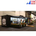 Expandable Folding Container Coffee Shop Prefabricated House