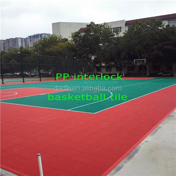 PP plastic suspended interlock basketball court surface