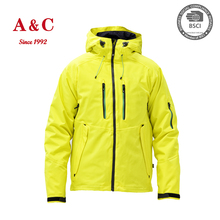 Mens High Quality Heated Unique Yellow Ski Jacket