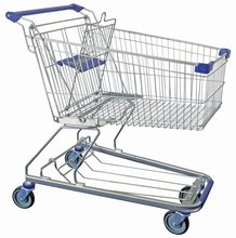 Supermarket German hand shopping trolley with baby seat