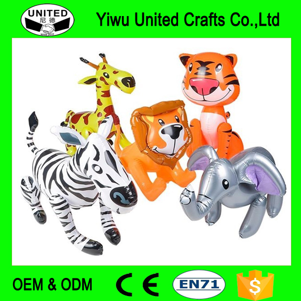 ZOO ANIMAL INFLATABLES / FIVE ZOO INFLATES / TIGER LION ZEBRA ELEPHANT GIRAFFE/Jungle/Safari/Party/Decor/Favor/prize giveaway