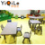 Plum flower shape children study table and kid chair kids table chairs