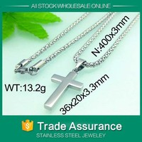 small Simple Design Stainless steel christian cross necklace