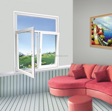 Modern design aluminum casement window, large casement glass windows for home
