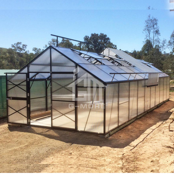 G-MORE Titan/Grange Series, 4M Width/10M Length, Super Strong 4 Seasons Aluminium/10MM PC Commercial Greenhouse(GM32410-G)