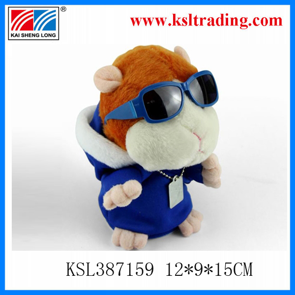 Plush baby doll hamster talking plush toy DJ talking x hamster animals shantou toys