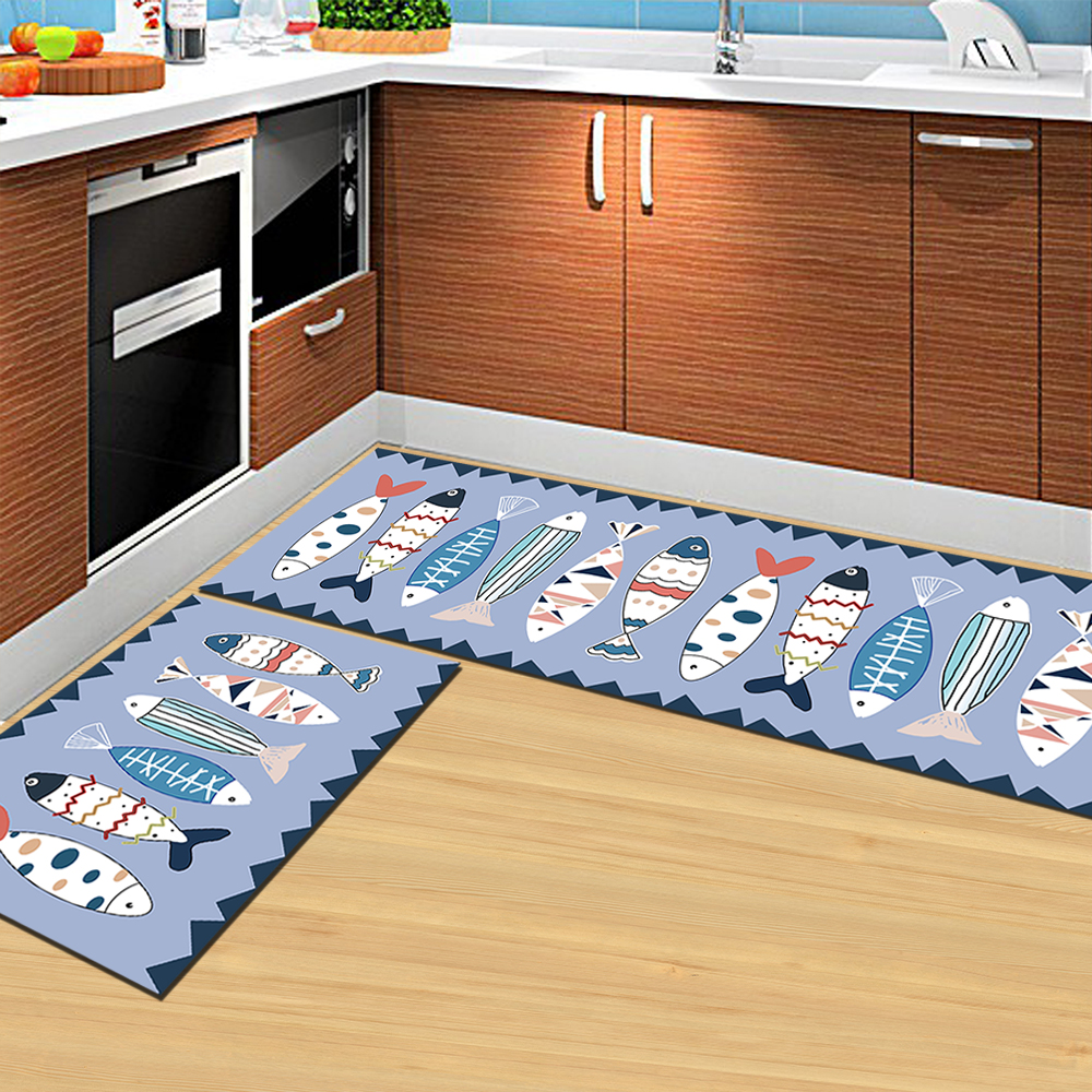Rug Direct Sale Eco Friendly Polyester Wool Non Slip Washabele Cartoon Decorative Floor Kitchen Home Textile Mat Rug