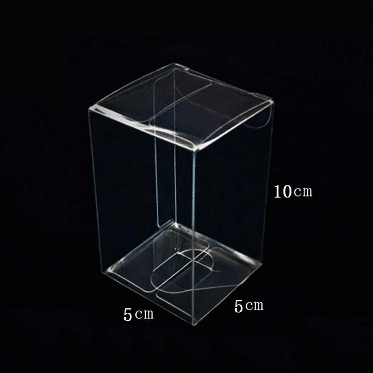 Top Sale transparent small christmas gift box packaging, 5*5*10cm