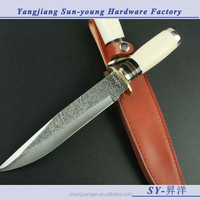 Hand made OEM Tactical Survival Cutter Knife with animal bone handle