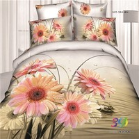 china wholesale bed sheets Embroidered Fabric 100% cotton animation 3d bedroom set latest bed sheet designs