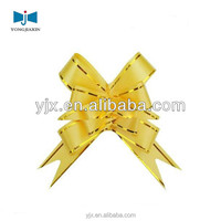 wholesale Gift wrap Decorative Butterfly Ribbon Pull Bow with gold edge