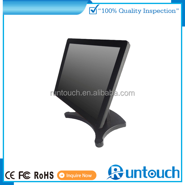 Runtouch RT-1500 POS OEM POS Kiosks touch monitor with stable and adjustale stand