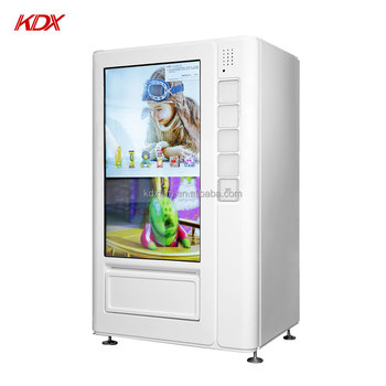 Interactive wifi touch screen advertising display snack pizza coffee vending machine