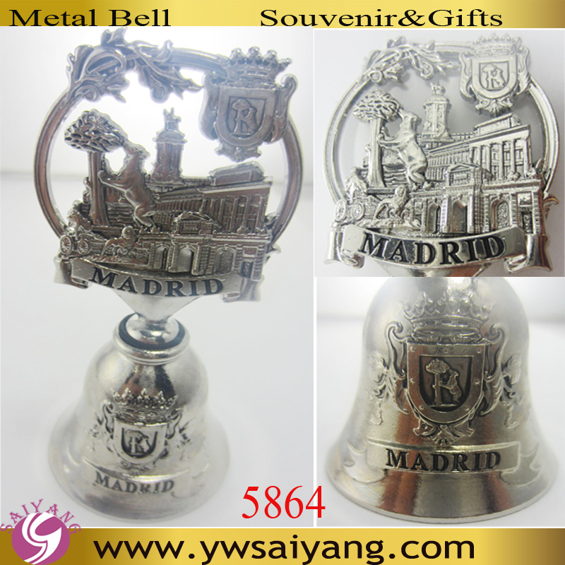 5864 Wholesale Customized Bell Souvenir Madrid bell Custome Dinner bell